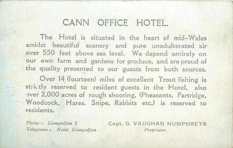 info of cann on postcard