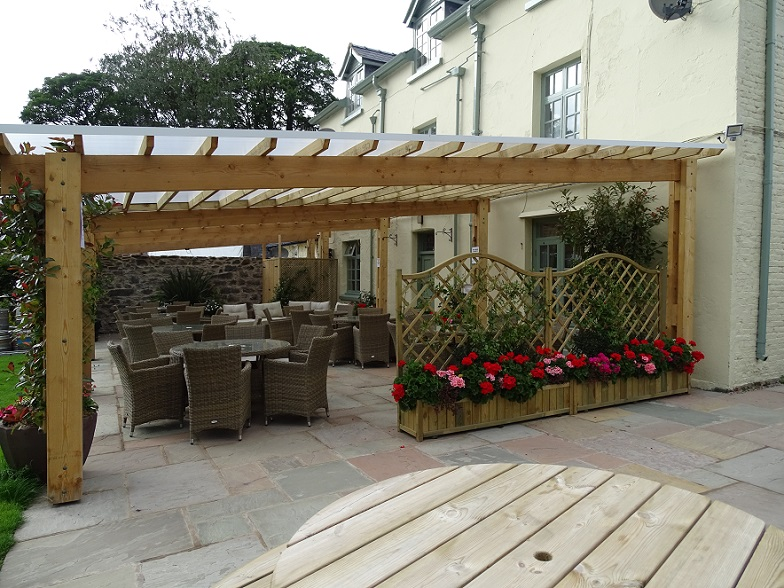 Covered Outdoor Seating Area